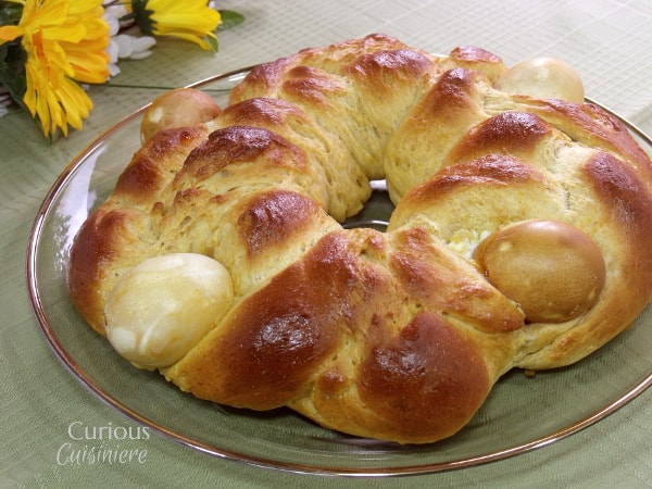 This light and eggy Italian Easter Bread, Pane di Pasqua, bread is slightly sweet and bursting the with the flavors of citrus and anise. - from Curious Cuisineire