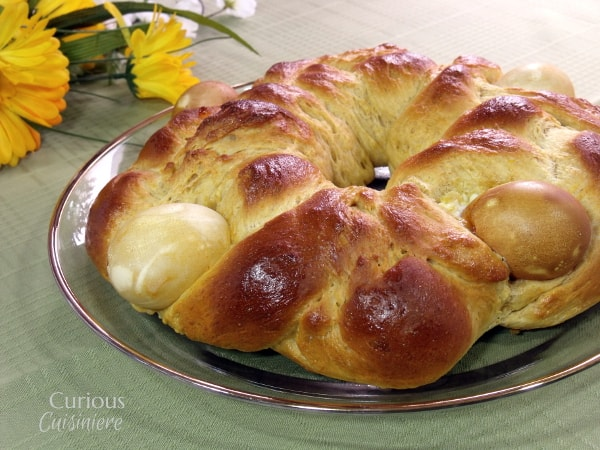 This light and eggy Italian Easter Bread, Pane di Pasqua, bread is slightly sweet and bursting the with the flavors of citrus and anise. -- Curious Cuisineire