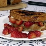 Grilled Cheese with Balsamic Marinated Strawberries