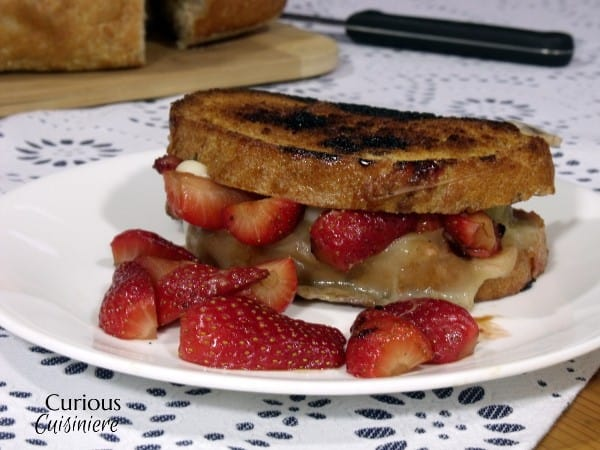 Balsamic Marinated Strawberry Grilled Cheese