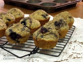 Blueberry Flax Muffins from Curious Cuisiniere
