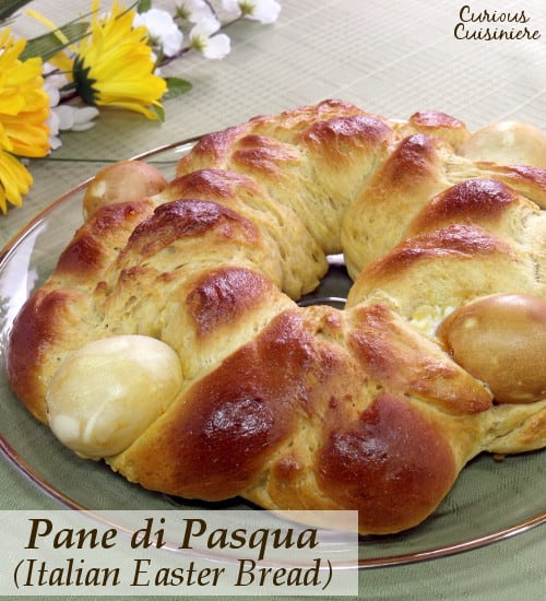 This light and eggy Italian Easter Bread is slightly sweet and bursting the with the flavors of citrus and anise. | www.CuriousCuisiniere.com