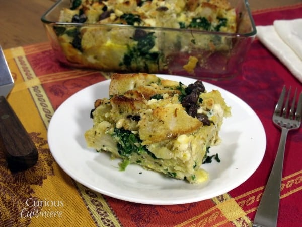 Overnight Greek Breakfast Strata for a Mother's Day #SundaySupper
