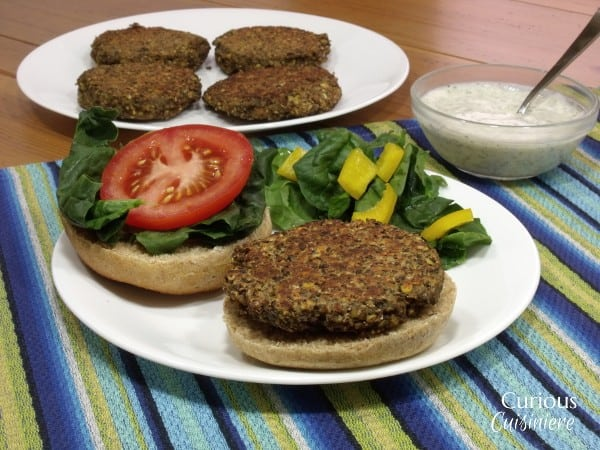Black Tea Lentil Burger