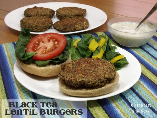 Black Tea Lentil Burger from Curious Cuisiniere