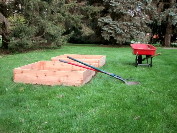 Installing the Beds and Working the Soil {GROW YOUR OWN}