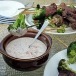 Beef and Broccoli Kebabs with Horseradish Aioli