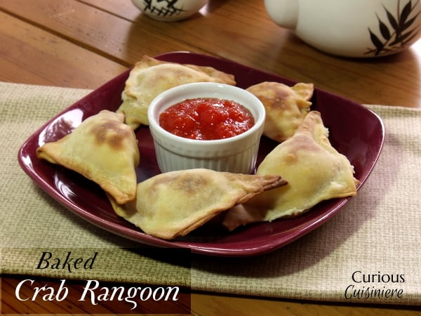 Baked Crab Rangoon from Curious Cuisiniere #Asian #takeoutfakeout #healthy