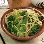 Garlicky Bok Choy with Noodles