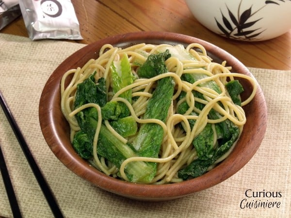 Garlicky Bok Choy with Noodles from Curious Cuisiniere