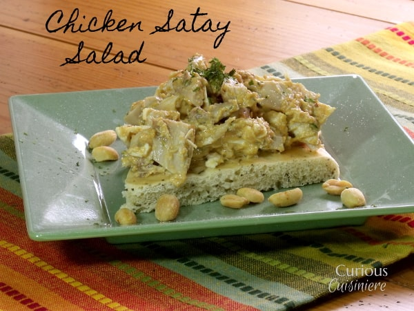 Chicken Satay Salad from Curious Cuisiniere