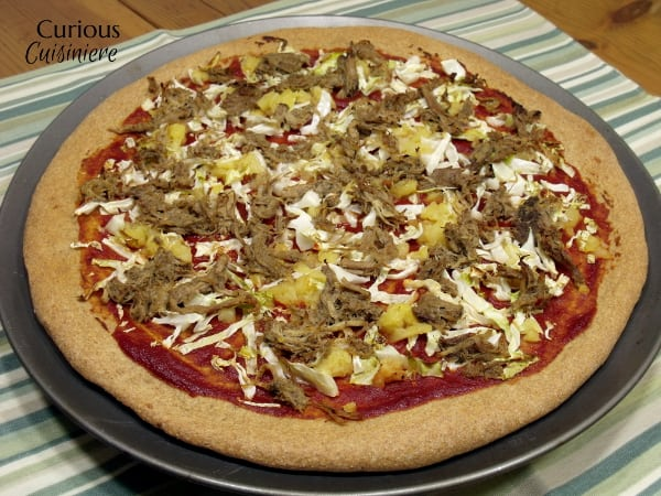 Jamaican Jerk Pork Pizza from Curious Cuisiniere