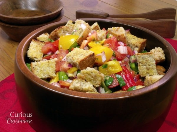 Tuscan Bread Salad from Curious Cuisiniere #PicnicGame #SundaySupper
