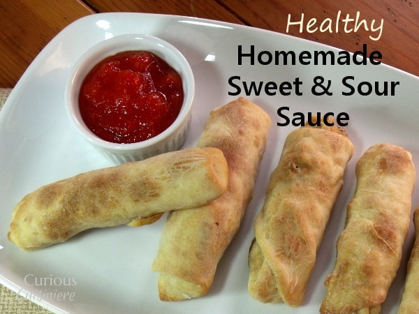 Sweet and Sour Sauce from Curious Cuisiniere #healthy #homemade #takeoutfakeout #Asian