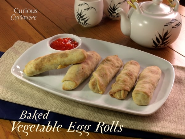 Baked Vegetable Egg Rolls from Curious Cuisiniere #SundaySupper #ChooseDreams #takeoutfakeout #meatlessmonday