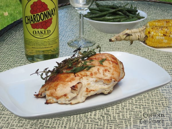 White Wine Grilled Chicken from Curious Cuisiniere #winePW #grilling