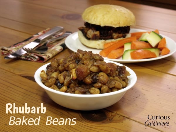 Rhubarb Baked Beans from Curious Cuisiniere