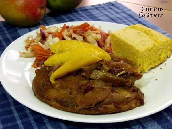 Mango Chipotle BBQ Pork from Curious Cuisiniere #crockpot #bbqrecipes