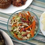 Rhubarb Slaw from Curious Cuisiniere #picnicrecipes #spring