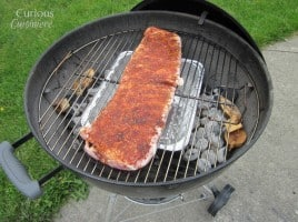 Smoked Spare Ribs from Curious Cuisiniere #summer #recipes #grilling #charcoalsmoking