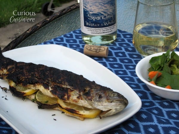 Seared Trout on the Grill from Curious Cuisiniere #grilling #summerrecipes