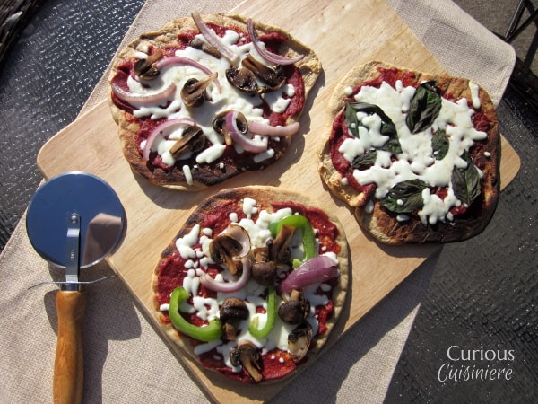 Individual Grilled Veggie Pizzas from Curious Cuisiniere