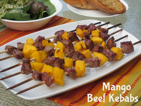 Mango Beef Kebabs from Curious Cuisiniere