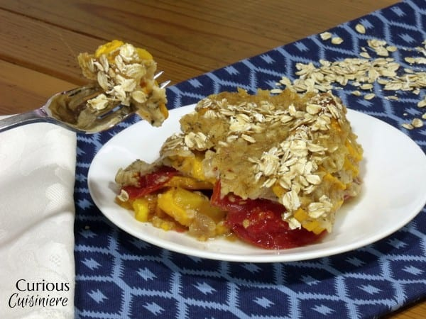 Tomato and Summer Squash Gratin with Oats from Curious Cuisiniere #oatsanddairy