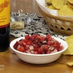 Chipotle Garden Salsa with Wild Hare Petite Sirah #winePW