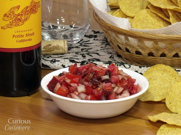 Chipotle Salsa with Petite Sirah Wine Pairing