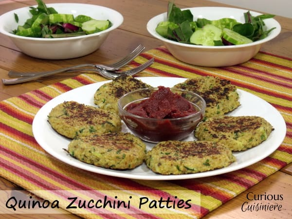 Quinoa Zucchini Patties from Curious Cuisiniere