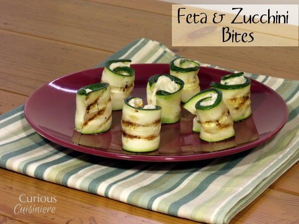 Feta Zucchini Bites from Curious Cuisiniere #SundaySupper #appetizer