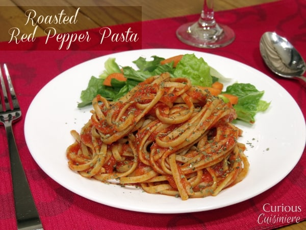 Roasted Red Pepper Pasta from Curious Cuisiniere