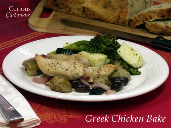 Greek Chicken Bake from Curious Cuisiniere