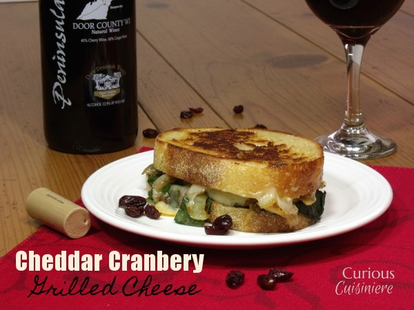 Cheddar Cranberry Grilled Cheese from Curious Cuisiniere