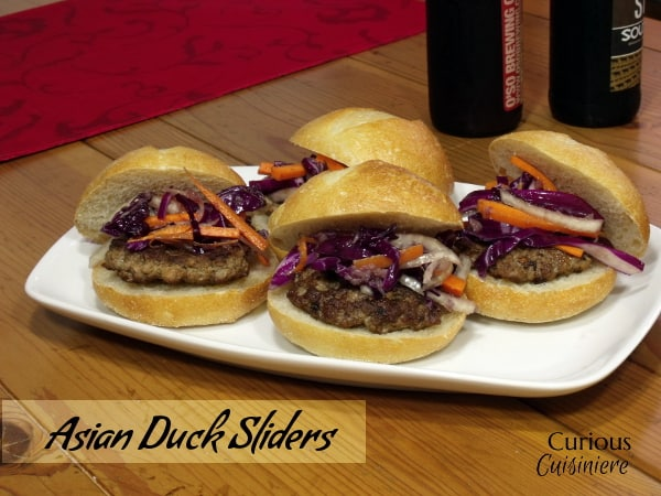 Asian Duck Sliders from Curious Cuisiniere #10DaysofTailgate