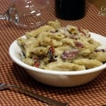 Healthy Pasta Alfredo with Sun Dried Tomatoes