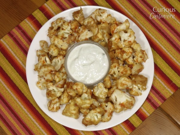 Cauliflower Wings from Curious Cuisiniere #10DaysofTailgate @SaucyQueen