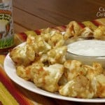 Cauliflower Hot Wings and Healthy Blue Cheese Dressing
