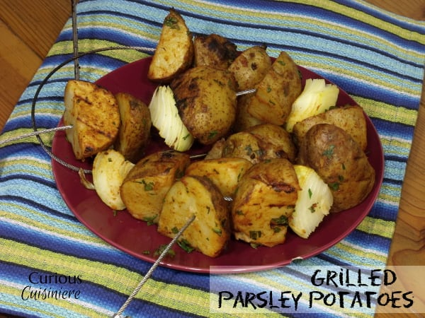 Grilled Parsley Potatoes from Curious Cuisiniere with @FireWireGrillin #10DaysofTailgate