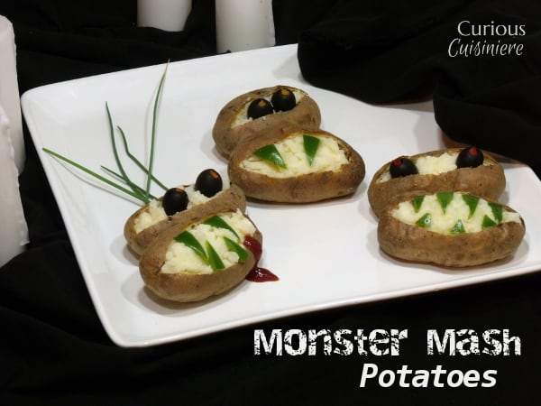 Monster Mash Potatoes from Curious Cuisiniere with @IdahoPotato #SundaySupper #Halloween #spon