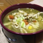 Leek and Corn Chicken Noodle Soup