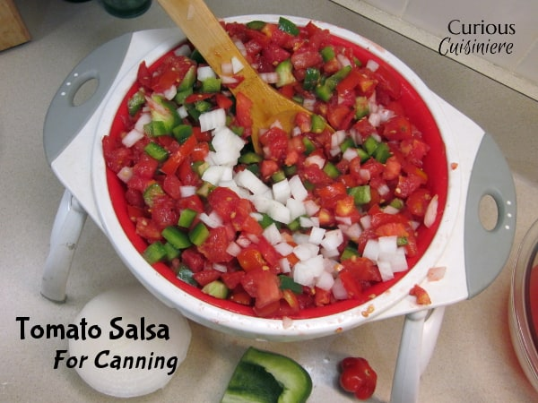 Tomato Salsa for Canning from Curious Cuisiniere