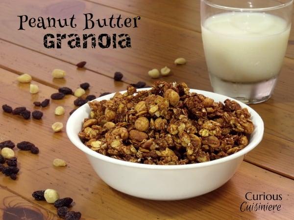 Peanut Butter Granola from Curious Cuisiniere #breakfast