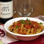 Penne all'Arrabbiata (Spicy Penne) with NEW Lewis Station Sangiovese