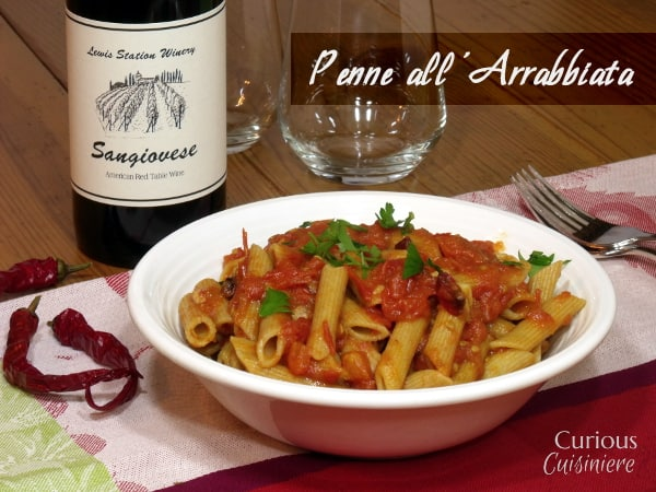 Penne all'Arribbiata from Curious Cuisiniere