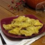 Pumpkin Ravioli with Tarragon