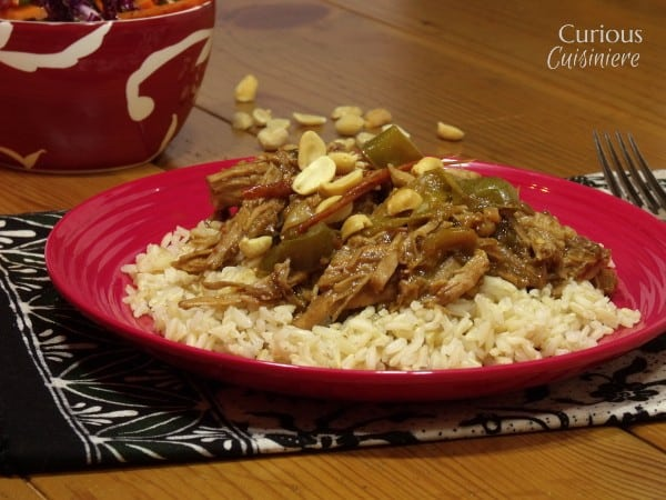 Crock Pot Thai Peanut Pork from Curious Cuisiniere
