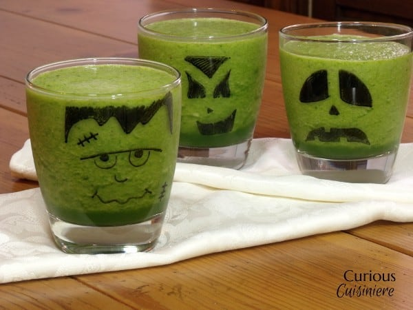 Halloween Green Smoothie from Curious Cuisiniere