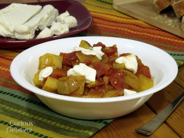Paneer and Potato Curry (Aloo Paneer) from Curious Cuisiniere